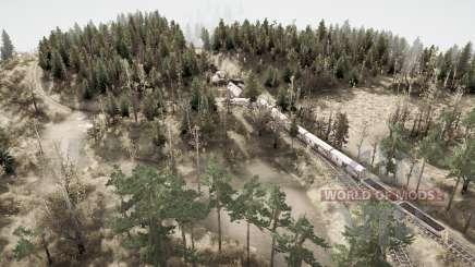 Baltique - Épave de train pour MudRunner