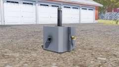 Front weight 1500 kg. für Farming Simulator 2013