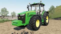 John Deere 8R new steering console and seat pour Farming Simulator 2017