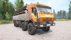 KamAZ-6350 couleur orange pour MudRunner