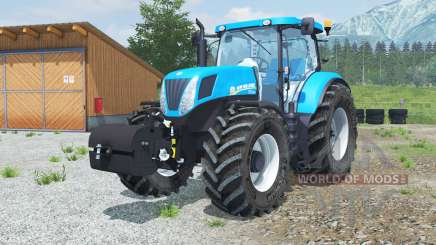New Holland T7.220 with weight pour Farming Simulator 2013
