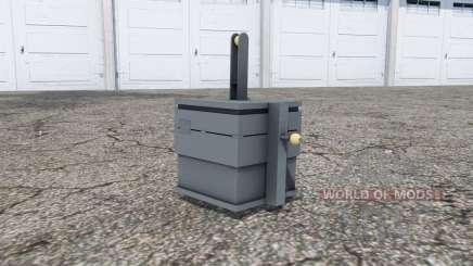 Front weight 900 kg. für Farming Simulator 2013