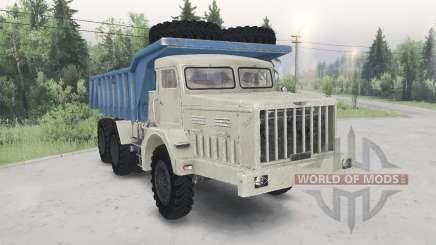 Le MAZ-530-beige-couleur bleu pour Spin Tires