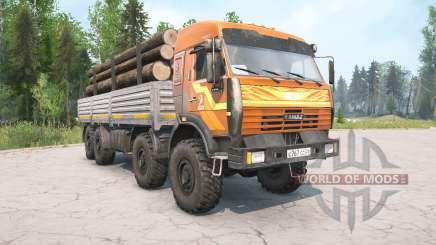 KamAZ-6350 orange Farbe für MudRunner