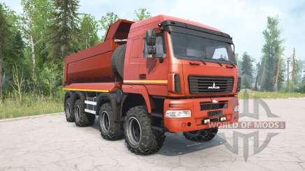 MAZ-6516В9 rote Farbe für MudRunner