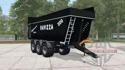 Ravizza Millenium 7200 SI black pour Farming Simulator 2015