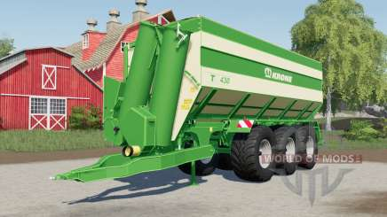 Krone TX 430 optional rear trailer hitch pour Farming Simulator 2017