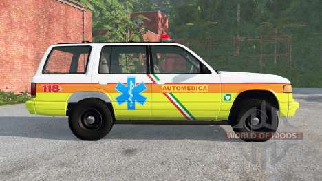 Gavril Roamer Automedica pour BeamNG Drive