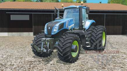 New Holland T8.320 mit twin dynamic hinten wheelᵴ für Farming Simulator 2015