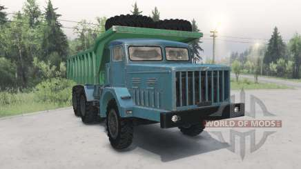 MAZ-530 grün-blau für Spin Tires