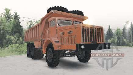 MAZ-530 orange Farbe für Spin Tires