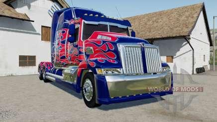 Western Star 5700 Sleeper Cab Optimus Prime pour Farming Simulator 2017