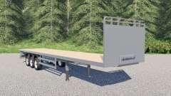 SDC flatbed trailer pour Farming Simulator 2017