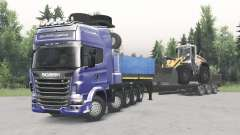 Scania R730 10x10 v2.0 pour Spin Tires