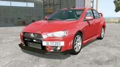 Mitsubishi Lancer Evolution X FQ-400 2009 pour BeamNG Drive