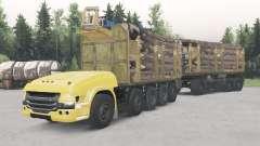 Sans pilote de camion Scania 10x10 pour Spin Tires