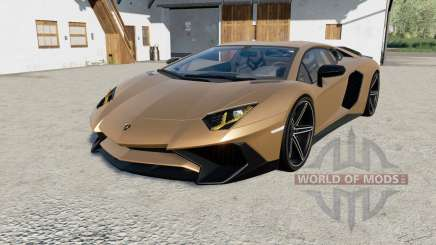 Lamborghini Aventador LP 750-4 SV (LB834) 201ⴝ pour Farming Simulator 2017