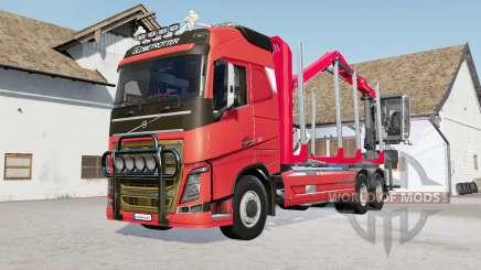 Volvo FH16 750 timber truck pour Farming Simulator 2017