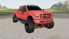 Ford F-350 Super Duty Crew Cab 2011 lifted pour Farming Simulator 2017