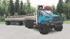De l'oural-4320-6951-74 couleur bleu pour Spin Tires