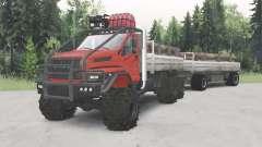 De l'oural-4320-6951-74 couleur rouge pour Spin Tires