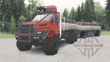 Ural-4320-6951-74 rote Farbe für Spin Tires
