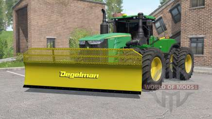 John Deere 9620R with silage blade pour Farming Simulator 2017