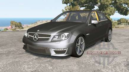 Mercedes-Benz C 63 AMG (W204) Ձ011 pour BeamNG Drive