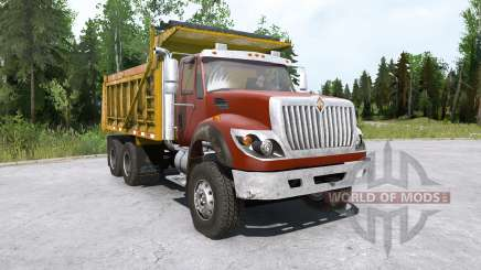 International WorkStar 6x4 Dump Truck 2008 pour MudRunner