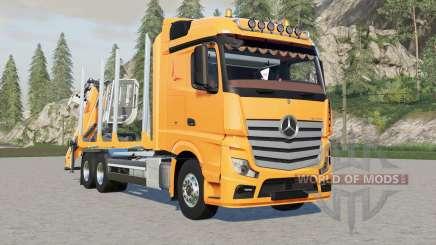 Mercedes-Benz Actros forestry truck für Farming Simulator 2017
