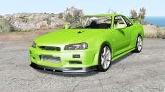 Nissan Skyline GT-R V-spec II (BNR34) Ձ000 pour BeamNG Drive