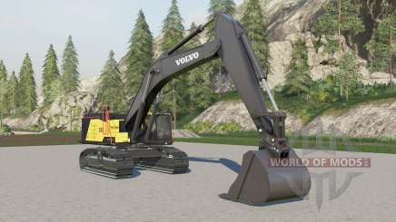 Volvo EC950EL fixed camera & textures für Farming Simulator 2017