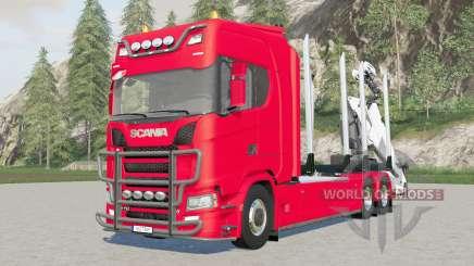 Trucƙ en bois Scania S 730 pour Farming Simulator 2017