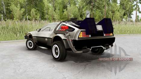 DeLorean DMC-12 time machine pour Spin Tires