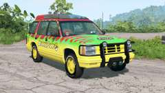 Gavril Roamer Tour Car Jurassic Park v4.2 pour BeamNG Drive