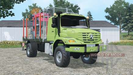 Mercedes-Benz Zetros 1833 A timber truck pour Farming Simulator 2015