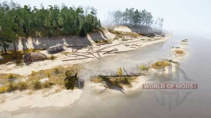 Der sandige Spieß des Flusses für MudRunner
