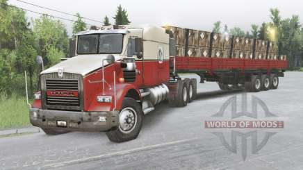 Kenworth T800 8x8 Chassis Cab für Spin Tires