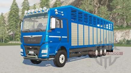 MAN TGX Livestock Truck increased load capacity pour Farming Simulator 2017