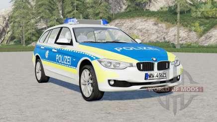 BMW 318d Touring Polizei FuStW (F31) 2015 pour Farming Simulator 2017