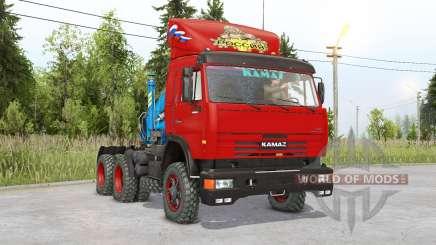 Kamaz 54115 6 x6 pour Spin Tires