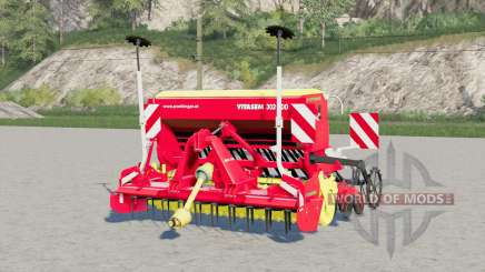 Pottinger Vitasem 302 ADD〡coral rouge pour Farming Simulator 2017