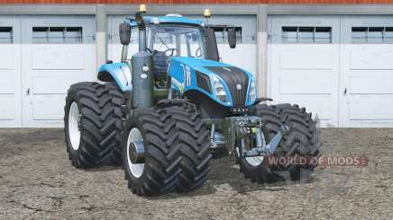 New Holland T8.435〡 roues de duel à clous pour Farming Simulator 2015