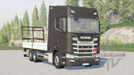 Scania Série S Highline〡platforme pour balles pour Farming Simulator 2017