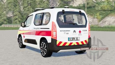 Citroën Berlingo Multispace XTR 2018〡DRK pour Farming Simulator 2017