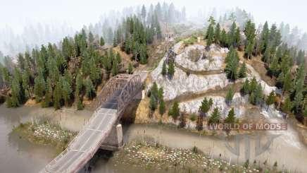 Fleuve et pont pour MudRunner
