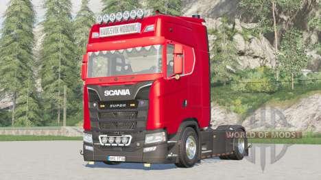 Scania Série S Highline 2017〡extra Hella lumière pour Farming Simulator 2017