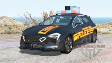 Cherrier Vivace Cyberpunk Police pour BeamNG Drive