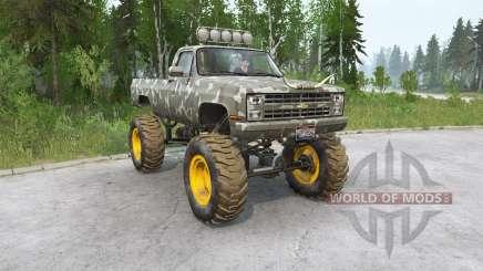 Chevrolet K30 Fleetside 1985〡 hors route pour MudRunner