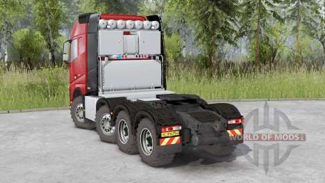 Volvo FH16 750 8x8 tractor Globetrotter cab pour Spin Tires
